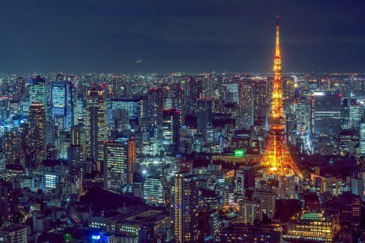 illuminated tower